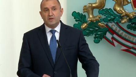 Президентът Румен Радев представя състава на служебния кабинет и основните