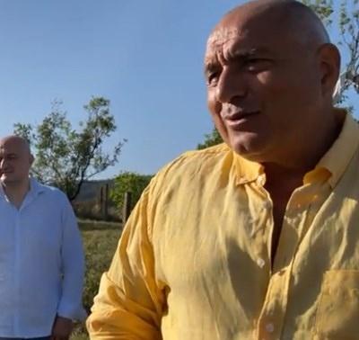 Председателят на ГЕРБ Бойко Борисов е на посещение в Губеш.