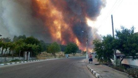Нормализира се обстановката в Старосел, където вчера голям пожар изпепели