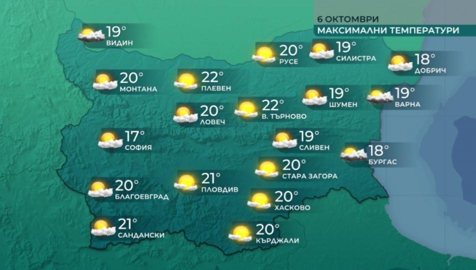 Ще преобладава слънчево време. Преди обяд над източните райони и